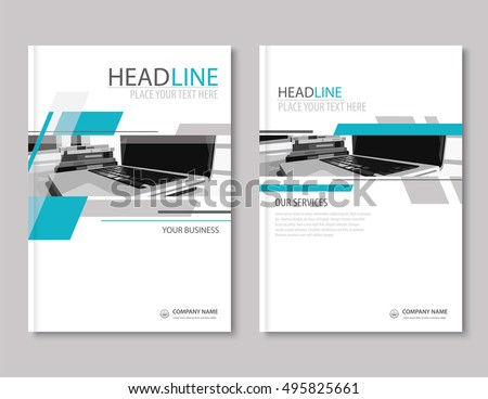Annual Report Brochure Flyer Design Template. Company Profile Business  Headline.Leaflet Cover Presentation Flat  Company Portfolio Template