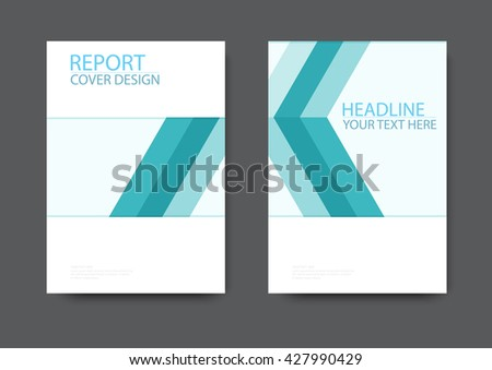 Annual report brochure flyer design template, cover design, A4, vector illustration