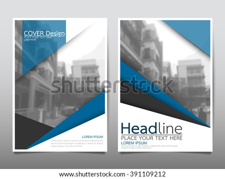 Annual report brochure flyer design template vector, Leaflet cover presentation abstract background, layout in A4 size