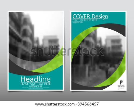 Annual report brochure flyer design template vector, Leaflet cover presentation abstract curve background, layout in A4 size