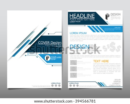 abstract technology brochure template vector design download free