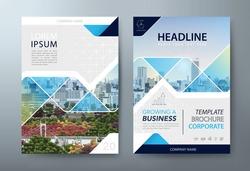Annual report brochure flyer design template vector, Leaflet, presentation book cover templates.