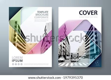 Annual report brochure flyer design template vector, Leaflet, presentation book cover templates. Сток-фото ©