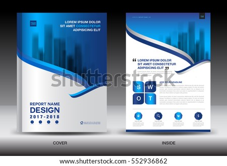 Annual report brochure flyer template, white cover design, business flyer template, advertisement, infographic vector