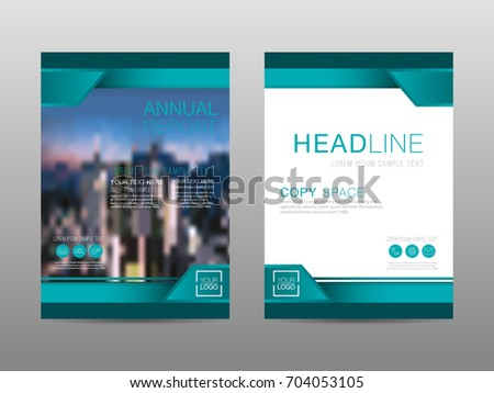 annual report brochure layout design template leaflet advertising poster magazine business financial for background empty copy space flat style vector - Settlement Brochure Template
