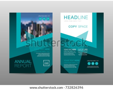Annual report brochure layout design template, Leaflet advertising, poster, magazine, Business Financial for background, Empty copy space, Flat style vector illustration artwork A4 size. #732826396