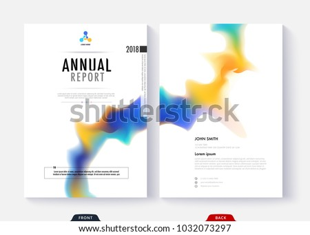 Annual report cover template collection design for business document page and book. Simple cover design page.