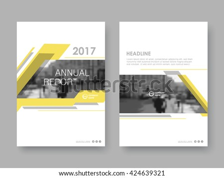 Annual report, flyer, presentation, brochure. Front page, book cover layout design. Design layout template in A4 size . Abstract yellow templates