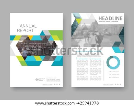 creative colorful geometric company brochure template design ...