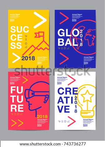 annual report 2018,2019,2020 ,future, business, template layout design, cover book. vector colorful, infographic, abstract flat background.
