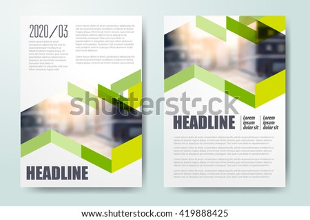 abstract business flyer template design download free vector art