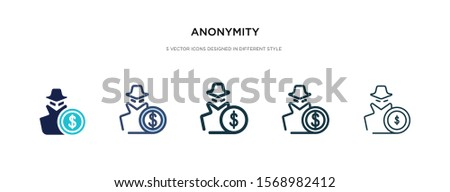 anonymity icon in different