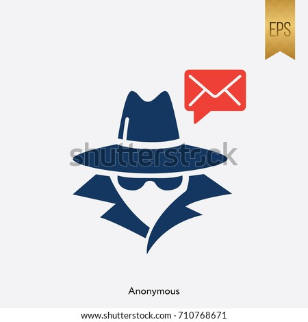 anonymous and email icon vector