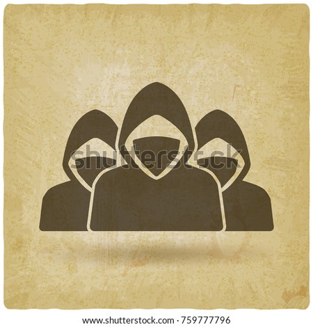 anonymous army concept vintage