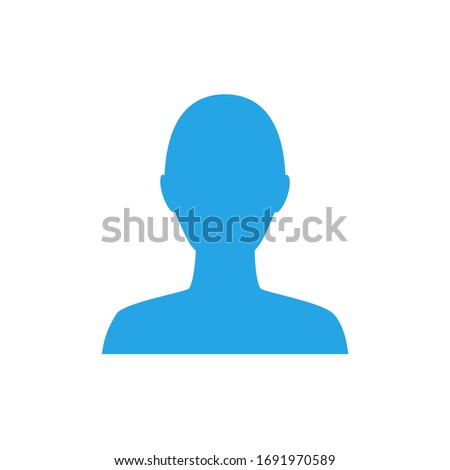 Anonymous gender neutral face avatar. Incognito head silhouette Photo stock ©