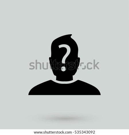 anonymous icon isolated on