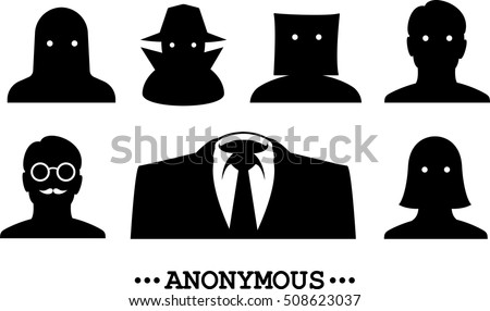 anonymous icons collection of