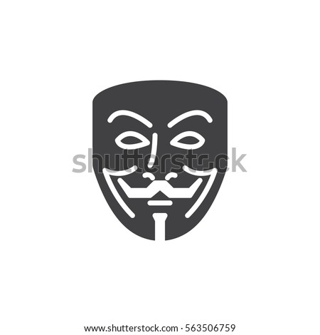anonymous mask icon vector