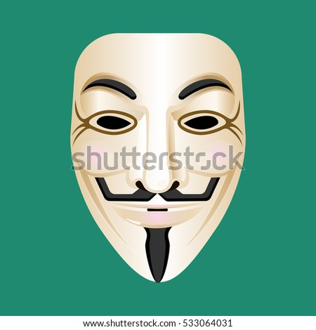 anonymous mask isolated on