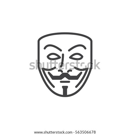 anonymous mask line icon