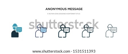 anonymous message icon in