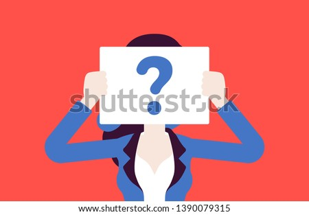 anonymous woman with question