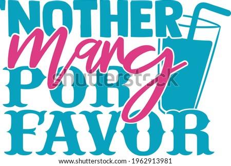 Another Marg Por Favor  - Cinco De Mayo design Photo stock ©