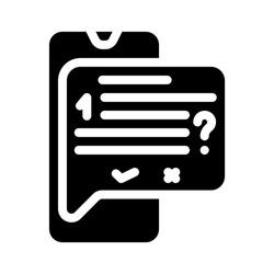 answer on question call center glyph icon vector. answer on question call center sign. isolated contour symbol black illustration