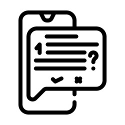 answer on question call center line icon vector. answer on question call center sign. isolated contour symbol black illustration