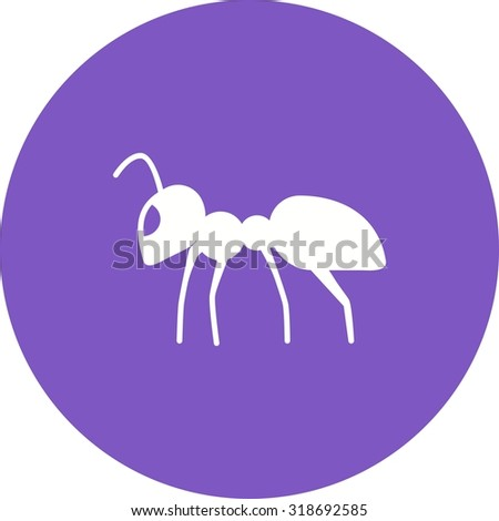 Ant, bug, insect icon vector image. Can also be used for Animals and Insects. Suitable for mobile apps, web apps and print media.