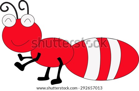 ant cartoon vector illustration