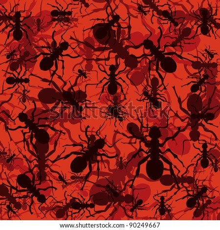 Ant colony colorful illustration background