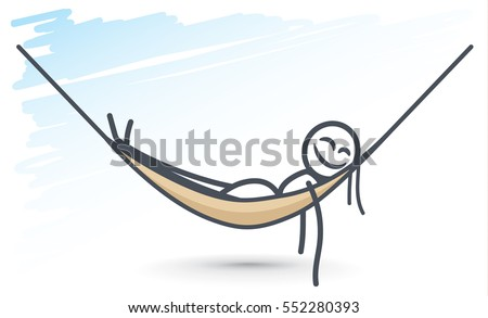 ant relaxing in a hammock