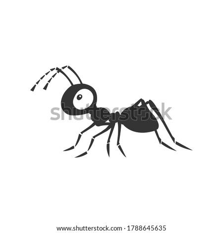 Ant silhouette vector on a white background Photo stock ©