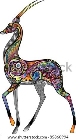 Antelope - stock vector
