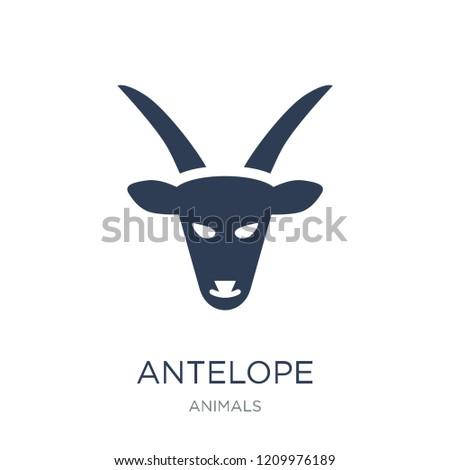 antelope icon trendy flat