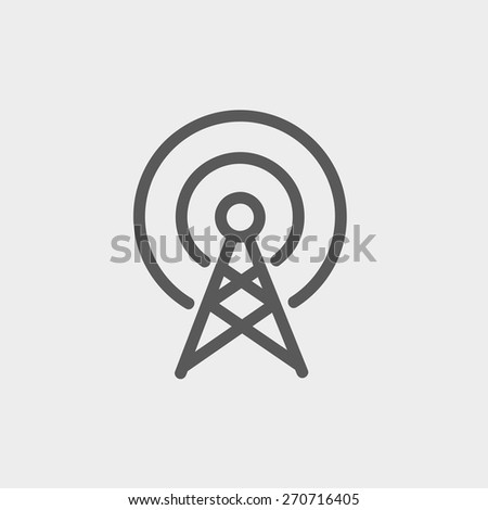 antenna icon thin line for web
