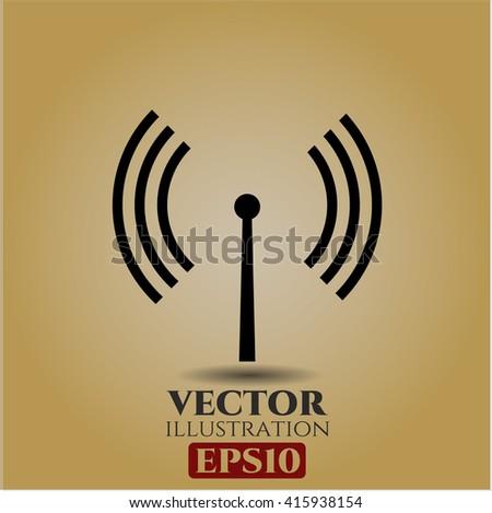 Antenna signal vector icon