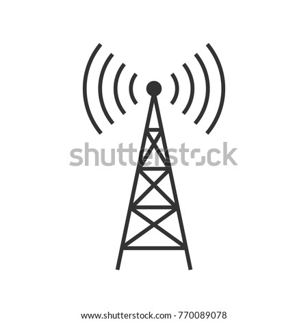 antenna vector flat illustration on white background