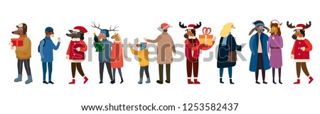 anthropomorphic set of animals