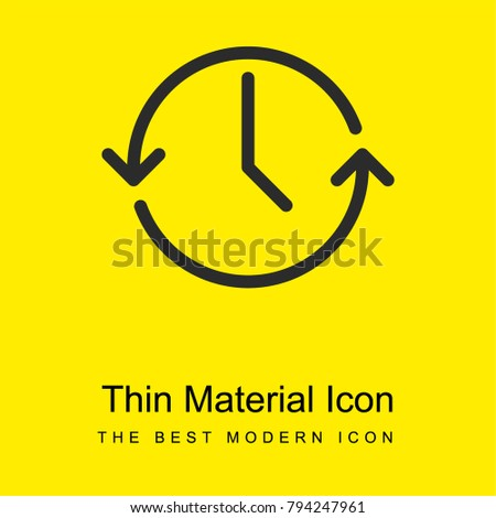 Anti clockwise bright yellow material minimal icon or logo design