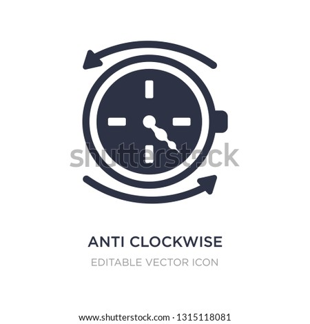 anti clockwise icon on white background. Simple element illustration from UI concept. anti clockwise icon symbol design.
