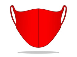 Anti-Dust Red Face Mask Fabric Template Vector For Running