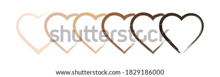 Anti racism hearts paint stroke vector icon banner. Say no to racism with this inclusive heart icons design. BLM Black Lives Matter Black History Month