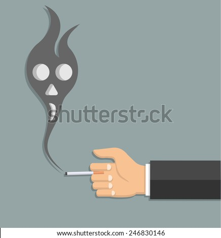 anti smoking concept in flat