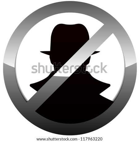 anti spy  hacker sign