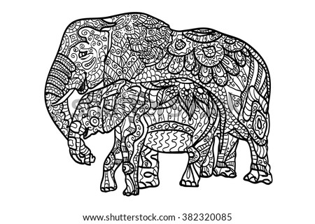 Colorful Elephants - Download Free Vector Art, Stock Graphics & Images