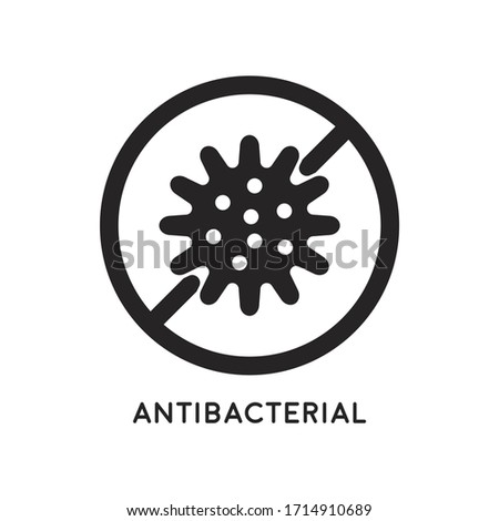 Antibacterial and antiviral defense. Germs and microbe icon. Vector illustration Zdjęcia stock ©