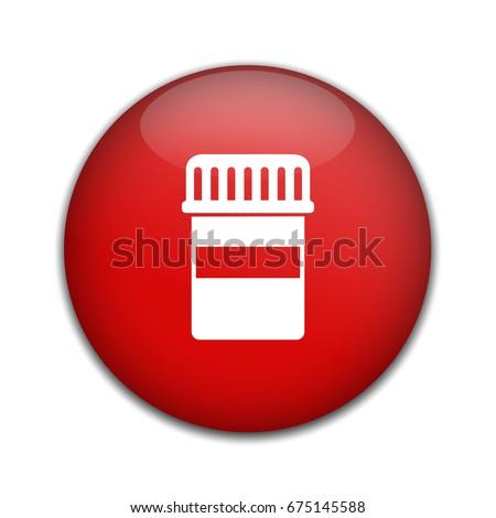antibiotic bottle icon