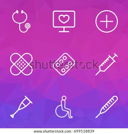 antibiotic outline icons set